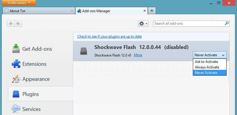 shockwave flash for tor browser hidra